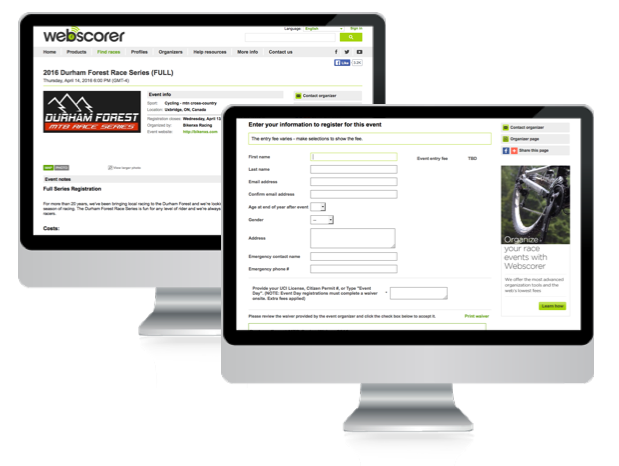 Webscorer Screenshot